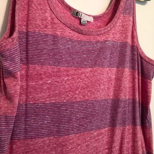 Volcom Tops - Volcom Women's tank top in pink w/ purple stripes